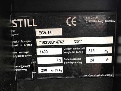 Поставка электрического штабелера STILL EGV 16i для ТОВ «Фарматрейд»